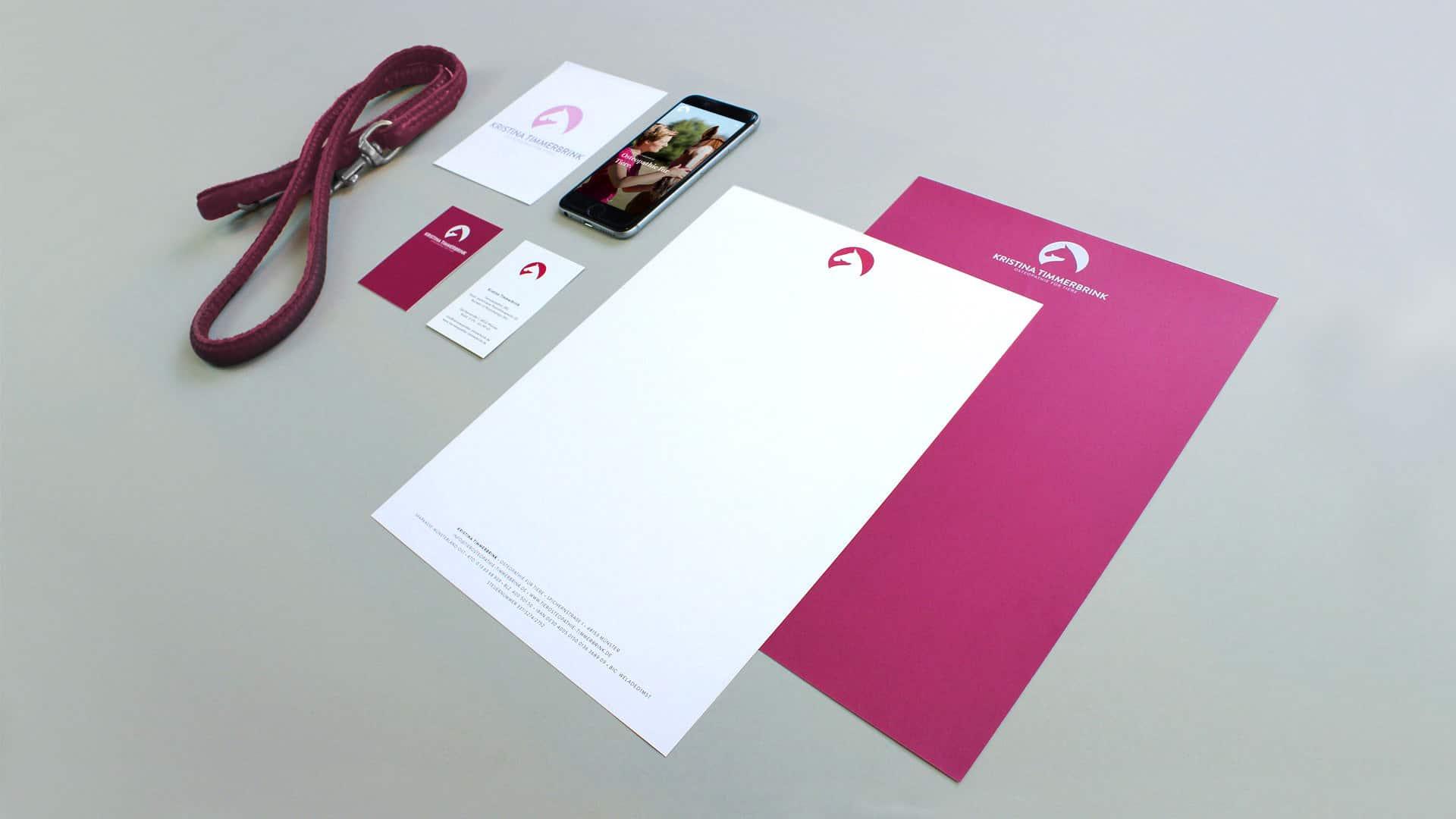 Webdesign und Corporate Design für eine Tierosteopathin aus Münster