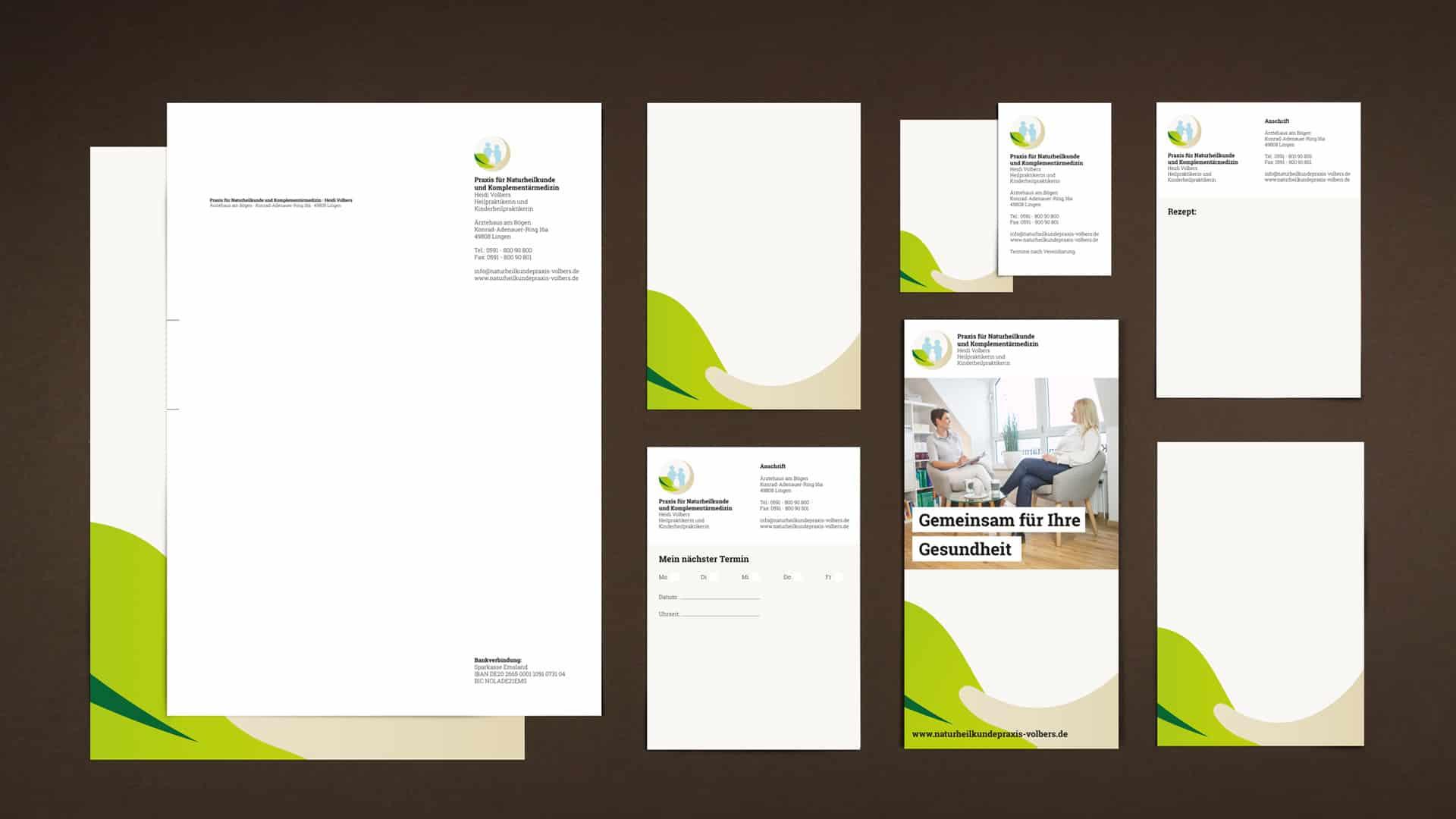 Corporate Design und Webdesign für Heidi Volbers aus Lingen bei Münster