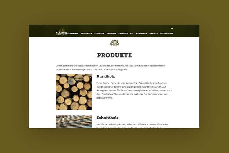 Webdesign und Entwicklung einer Website für ein holzverarbeitendes Unternehmen aus Warendorf in Nähe von Münster