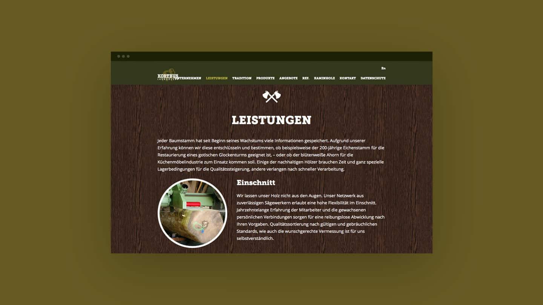 Webdesign für ein holzverarbeitendes Unternehmen aus Ostbevern