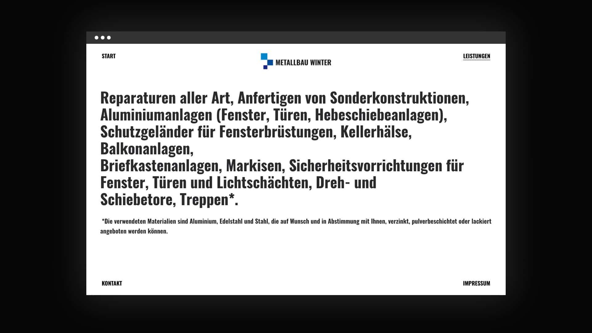 Responsive Webdesign für Dirk Winter aus Münster