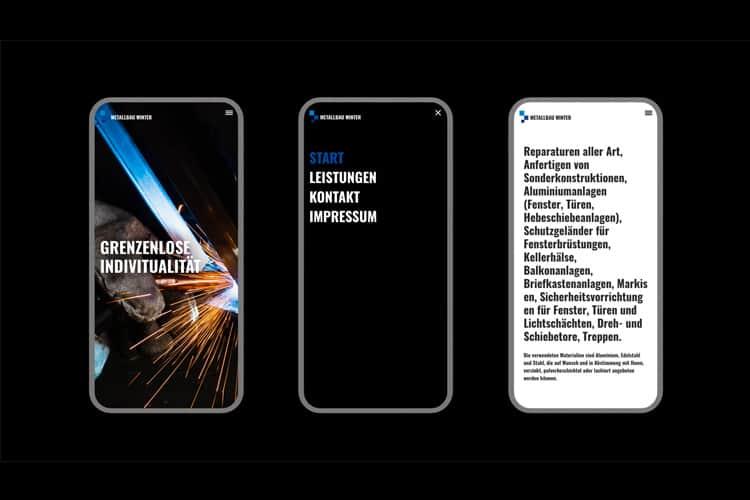 Webdesign für Metallbau Winter aus Münster